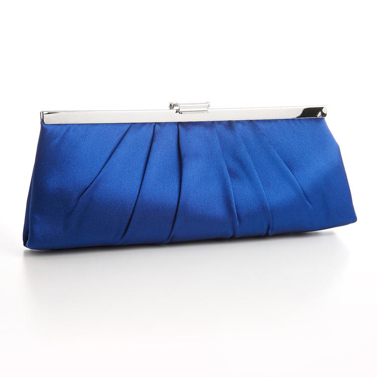 Home » Royal Blue Satin Clutch Purse